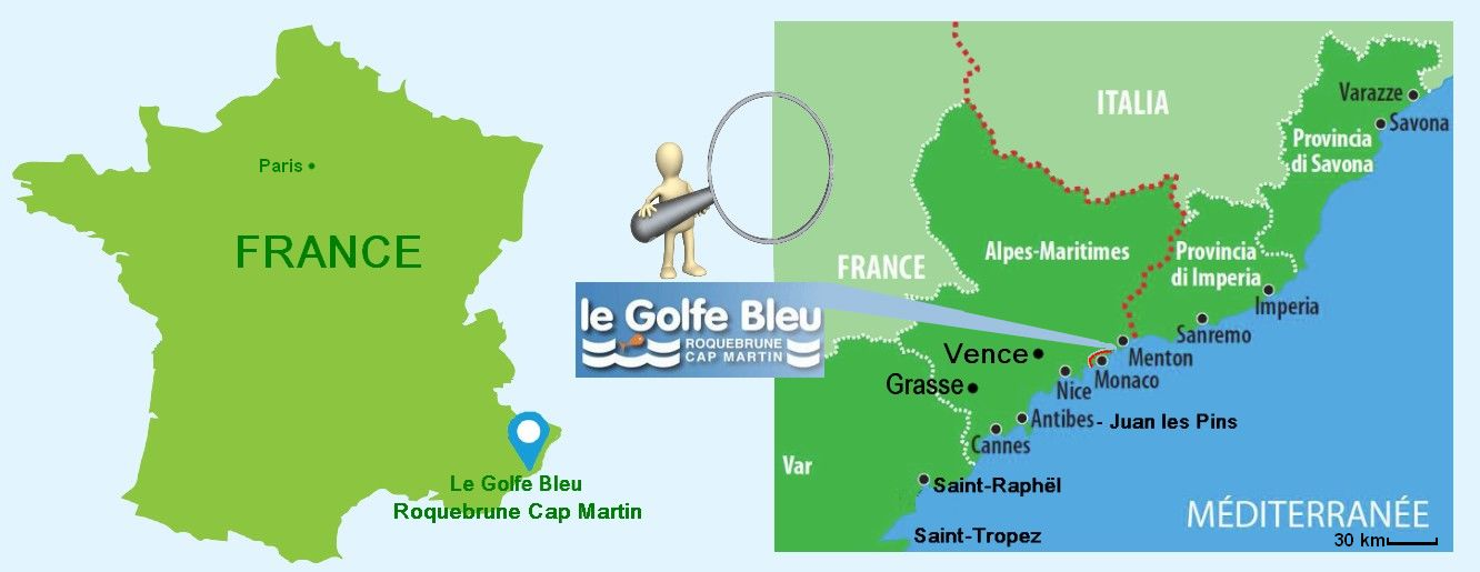 carte france cote d'azur